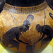 Exekias, Attic black figure amphora, looking down