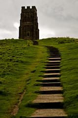Glastonbury - Tower on the Tor - 09-26-12 (mosley.brian) Tags: england tower unitedkingdom glastonbury tor glastonburytor thetor isleofavalon