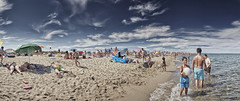 Beach fun 1 (Marijke M2011) Tags: panorama sun playing beach swimming sand marijke mediterraneansea mooy beachphotography canoneos5dmarkii mooywerk marijkemooyphotography