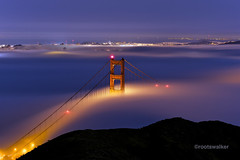 Wake Me Up When September Ends (rootswalker) Tags: sanfrancisco longexposure nature architecture general availablelight 100mm september goldengatebridge bluehour marinheadlands 2012 carlzeiss zf lowfog slackerhill makroplanart2100 fogevent