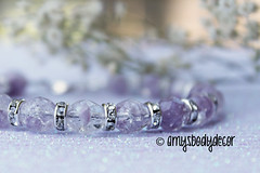 Handmade Bracelet. Crystal and Light Amethyst. (AmysBodyDecor {Bailey Brand}) Tags: light silver beads purple czech crystal handmade lavender lilac bracelet handcrafted amethyst roundel crackleglass artfire firepolished februarybirthstone amysbodydecor impressionsbyamy beadelle