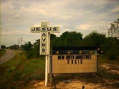 Jesus Saves (Gerry Dincher) Tags: fayetteville cumberlandcounty northcarolina signs jesussaves newbirthministries newbirthministriescogic cross arrowsign usroute301 businessi95 gillespiestreet churchofgodinchrist gerrydincher