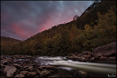 Gauley River Sunset (Marvin Foran Photography) Tags: longexposure sunset clouds rapids westvirginia gauleyriver cloudformations canon1740l canon5dmarkii dramaticfallcolors marvinforanphotography