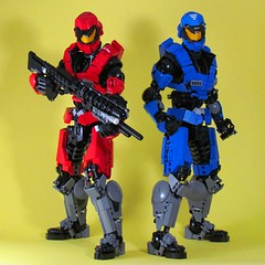 Red vs Blue (retinence) Tags: blue red 3 factory lego halo caboose hero vs reach fusion bionicle spartan sarge rvb