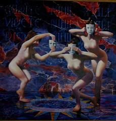 Oil Painting by R.C. Bailey (R.C. Bailey's Art) Tags: woman art painting nude artist mask oil rcbailey