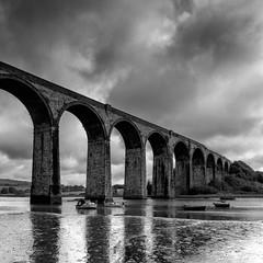 Viaduct (Martin Mattocks (mjm383)) Tags: bridge sky reflection water clouds landscape boat cornwall railway viaduct stgermans cornwalllandscapes mjm383 martinmattocksphotography