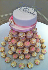 Bunny Wedding Cake & Cupcakes 1