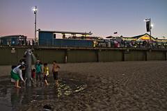Cleaning up at the Santa Monica Pier (Michael Bartosek) Tags: ocean california longexposure color beach digital pier santamonica malibu pacificocean canon7d michaelbartosekphotography