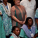 UN Women Executive Director Michelle Bachelet meets with women from Haiti who are attending a six-month training course in solar engineering at Barefoot College