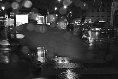 Rain (Bcasso) Tags: blackandwhite bw paris rain night canon outdoors photography blackwhite tranquility capitalcities 40d bcasso bjrnrisson bjornthorisson