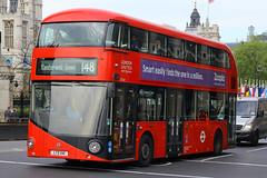 LTZ 1141, Westminster, London, May 11th 2015 (Southsea_Matt) Tags: travel bus london public westminster canon spring transport may vehicle routemaster passenger wright 1855mm omnibus 2015 londonunited greaterlondon nbfl 60d route148 borismaster lt141 ltz1141