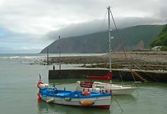 Lynmouth, N.Devon (christine.robinson57) Tags: water lynmouth devon harbour cloud mist mountain