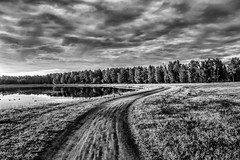 B&W by the Lake (stewartcollins1) Tags: isolation oulu finland summer insomnia landscape clouds lake lakes scandinavia