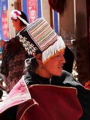Woman in Tarabuco (magellano) Tags: tarabuco bolivia sucre cappello vestito tradizionale hat dress traditional donna ragazza woman people street candid mercato market girl