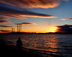 Photowalk (ccgd) Tags: cromarty scotland beach rigs sunset gloaming