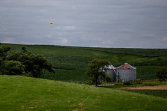 Fly By (Phil Roeder) Tags: canon6d canonef70200mmf4lusm farm rural green field clouds airplane