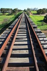 Rail bridge over the Gilbert (Runabout63) Tags: railway bridge hamleybridge