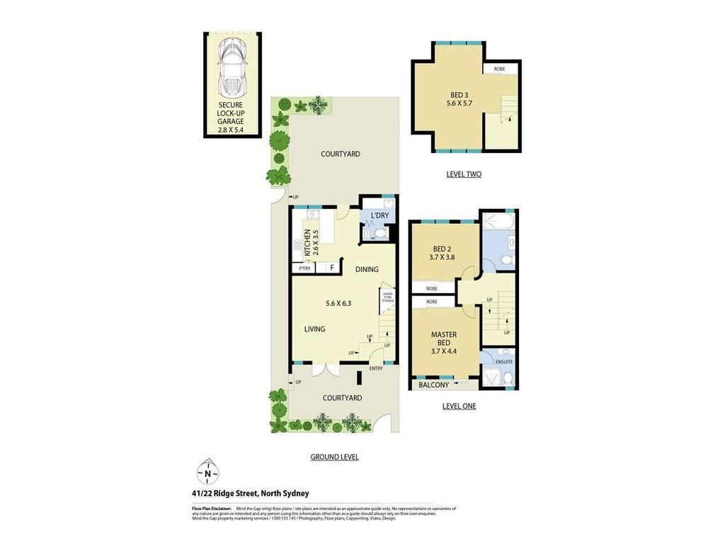 Floorplan for 41 22 ridge street north sydney nsw 2060 for Kirribilli house floor plan