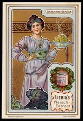 Liebig Tradecard S764 - Serving Vegetables (cigcardpix) Tags: tradecards advertising ephemera vintage liebig chromo artnouveau