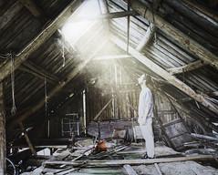 'Strange beam of light' (Mini`s photo) Tags: white exposure selfportrait storytelling me smoke beam light strange photo abandoned dark day