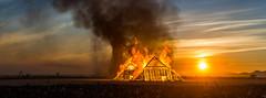 Burning Man 2016 (jamenpercy) Tags: blackrockcity burningman2016 jamenpercy nevadadesert davincisworkshop playa sunrise pyramids morning fire burn inferno blaze tornado smoke crowd pyramid golden