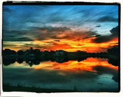 Sunrise iPhone cross-processed  02-20160827 (Kenneth Cole Schneider) Tags: florida backyard miramar sunrise