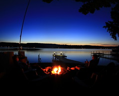 Summer rite of passage -- fire pit by the lake (danstambaugh) Tags: relaxing lake nature firepace keuka fingerlakes tnc