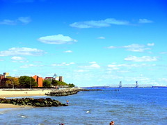 Rockaway Inlet Panorama (dimaruss34) Tags: newyork brooklyn dmitriyfomenko image sky clouds manhattanbeach beach