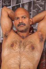 IMG_2279 (DesertHeatImages) Tags: joe hunter hairy furry daddy bear otter naked nude uncut indian moustache camo
