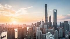 Twilight (/DoveLee/LiGe) Tags: shanghai china city cityscape urban architecture canon lujiazui sunset skyline