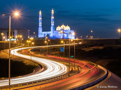 SSM_1369 (suprio2k) Tags: mosque landscape streetlight street cloud oman muscat daylight worship photography nikon nikonphotography d750 curve lighttrail