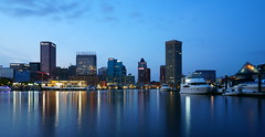 baltimore inner harbor at dusk (CU TEO MD) Tags: harbor baltimore maryland water highrise buildings boat dock lights sony a6300 ngc soe twop artofimages simplysuperb night dusk landscape sky