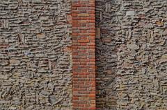 Brickwork (Hindrik S) Tags: brickwork brick mitselwurk metselwerk stien steen stein bakstien baksteen cement concrete semint red read rood rot symmetry symmetrie art architecture horizontaal horizontal line lijn haniasteeg leeuwarden liwwadden neushoorn keunst kunst kh2018 kulturelehaadstd2018 2016 ljouwert sonyphotographing sony sonyalpha a57 57 slta57 tamron tamronaf16300mmf3563dillvcpzdmacrob016 16300 tamron16300
