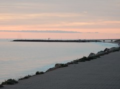 Pastel Sky (mikecogh) Tags: glenelg sunset pastel horizon foreshore esplanade marina bridge coast gentle soft