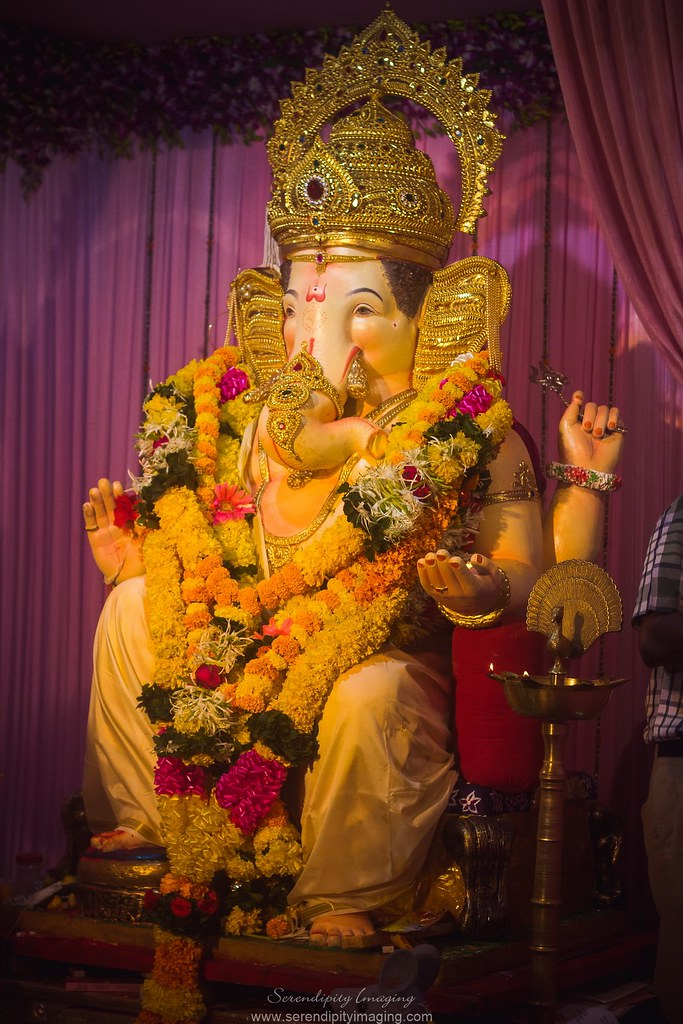 The world 39 s newest photos of ganesh and ganpati flickr for Background decoration for ganesh festival