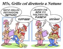 Nettuno (Moise-Creativo Galattico) Tags: editoriali moise moiseditoriali editorialiafumetti giornalismo attualit satira vignette grillo nettuno m5s