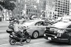 Northbound Traffic._ (Bill Smith1) Tags: asahipentaxmx believeinfilm billsmithsphotography hc110b heyfsc ilfordhp5400 smcpentaxm50f2lens september2016 toronto filmshooterscollective