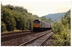 British Rail Class 47 On Parcels. (ManOfYorkshire) Tags: diesel locomotive rail railway train blue parcels newspapers mail vans coaches freight working britishrail class47 track