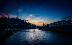 Evening Salzburg (alex.salt) Tags: eurotrip201608 city cityscape evening landscape public river sunset pentaxk5 smcpentaxda1855mmf3556alwr 18mm