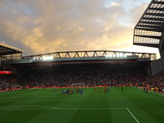 The Kop after the game (lcfcian1) Tags: liverpool fc leicester city anfield football sport merseyside epl bpl premier league liverpoolfc leicestercity liverpoolvleicester liverpoolvleicestercity lfc lcfc sunset sky