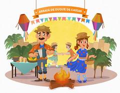 Itau Junino - Arraiá de Caxias (Works by Issao Bazolli) Tags: digital digitalart photoshop illustration ilustração colour itaú festajunina arraiá desenho