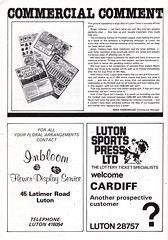 Luton Town vs Cardiff City - 1981 - Page 38 (The Sky Strikers) Tags: luton town cardiff city football league division two kenilworth road official match day magazine 30p