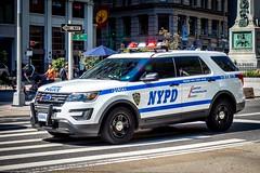 NYPD (TS_1000) Tags: oneway 5av k9 olympus sirene haveaniceday ford cop einsatz polizei police newyork nypd