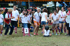 Cheering In (Bob Hawley) Tags: nikond7100 nikon80200f28 asia kaohsiung taiwan zuoying aboriginalculture aborigines races festivals people children betelnut palmfronds women ami