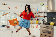 Magical Kitchen 01 (RachelMarieSmith) Tags: kitchen katrina weidman paranormal reality television cupcakes floating levitation magical magic witchcraft witch witches pinup 50s red white blue baking cooking bake cook chef shoes dress sweater victory curls float levitate mythical sorcery witching witchery wizardry spells spellbook vintage cookbook incantations wicca hover hovering halloween otherworldly