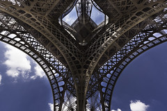 The Magician of Iron (Sorin Popovich) Tags: eiffeltower lowangle toureiffel monument landmark paris france puddlediron wroughtiron iconiclandmark traveldestinations europe tower builtstructure structure
