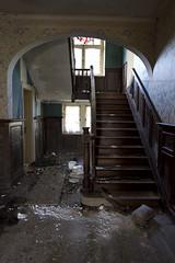 Autrefois... (Nutena) Tags: old house window stairs dark decay urbanexploration maison desolate fenêtre decaying vieux ambiance urbex escaliers délabré ténébreux défraîchi