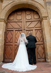 With Dad at the Doors (Dale Hameister) Tags: california ca wedding carmel carmelbythesea weddingphotography carolineandesteban