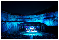 Fireworksconcert in Dalhalla (Swede66) Tags: light music color stars fire concert fireworks sweden outdoor live grand arena quarry rttvik dalhalla dalecarlia dalasinfoniettan musikweb
