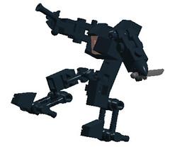 NAC-2001 Shade Assassin Action (NimbusConflict) Tags: lego mecha mech moc microscale mechaton mfz mf0 mobileframezero
